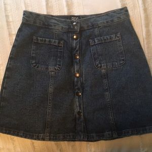 Urban Outfitters Button-Front Denim Skirt
